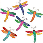 Small Dragonfly Wall Decor (Set of 6)