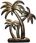 Bronzed Palm Trees Wall Art