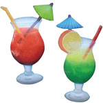 Cocktail Drinks Decor (Set of 2)