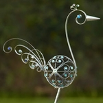 "48"" Metal Filigree Bird - Pewter"