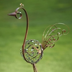 "48"" Metal Filigree Bird - Bronze"
