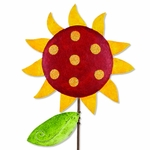 Whimsical Red Sunflower