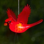 Cardinal LED Light Wind Chime