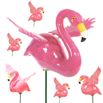 Pink Flamingo Garden Stakes (Set of 6)