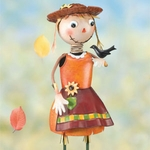 Scarecrow Girl Garden Decor