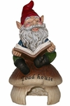 Gnome Reading on Toad House