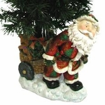 "25"" Fiber Optic Christmas Tree - Santa's Cart"