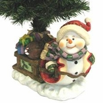 "28"" Fiber Optic Christmas Tree - Snowman with Gifts"