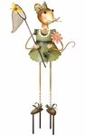 Mouse Lady Garden Decor