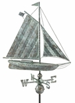 Large Sloop Boat Weathervane