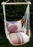 Cappuccino Brown Leaves Hammock Chair Swing Set