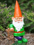 Garden Gnome Hipster - Orange Hat