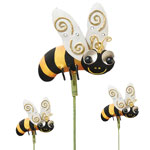 Metal Bee Garden Stakes (Set of 6)