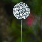 Glam Ball Powered Garden Stake - White