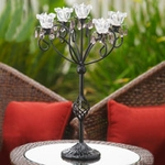 Anywhere 5 Flame Kami Candelabra - Black