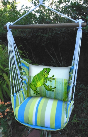Beach Boulevard Frog Hammock Chair Swing Set - Click to enlarge