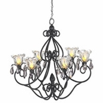 Medium Hannah Series Chandelier - Black