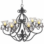 Large Hannah Series Chandelier - Black