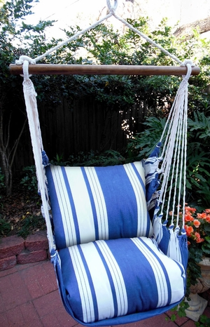 Marina Stripe Classic Hammock Chair Swing Set - Click to enlarge