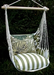 Summer Palms Green Leaves Hammock Chair Swing Set