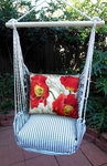 Ticking Black Poppies Hammock Chair Swing Set