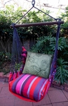 Lava Stripe Butterfly Circles Hammock Chair Swing Set