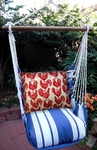 Marina Stripe Roosters All Over Hammock Chair Swing Set