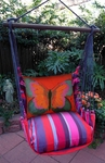Lava Stripe Butterfly Hammock Chair Swing Set