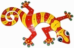 Red Yellow Gecko Wall Decor