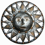 Silver Sun Wall Decor