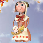 Pilgrim Girl Garden Decor