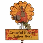 Thanksgiving Turkey Garden Stake / Sign