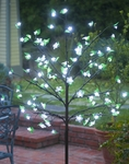 White LED Cherry Blossom Tree - w/Leaves!