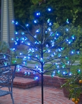 Blue LED Cherry Blossom Tree w/Leaves!