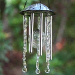 Anywhere Crackle Glass LED Wind Chime