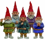 "32"" Toad Hollow Gnomes (Set of 5)"