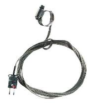 "Oakton 0.44-1.00"" Dia. Hose Clamp Surface Thermocouple Probe with SS Cable, Type J - WD-08469-20"