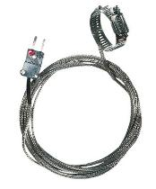 "Oakton 0.5-1.5"" Dia. Hose Clamp Surface Thermocouple Probe with SS Cable, Type J - WD-08469-30"