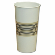 CUP 22OZ PPR COLD WHI W/BLU & YEL MIDBAND 24/50'S