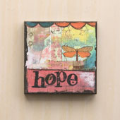 """Hope"" Wall Art 6""sq"
