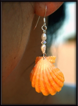 Sunrise Shell Pearl and Crystal Earrings