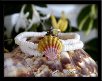 Double Strand Puka Shells & Hawaiian Sunrise Shell Bracelet