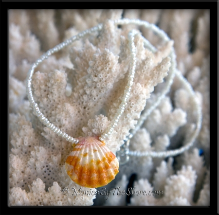 Little Girls Hawaiian Sunrise Shell & Pearl Keiki Necklace