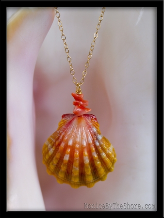 Custom Bridal Sunrise Shell Necklace for Hiro