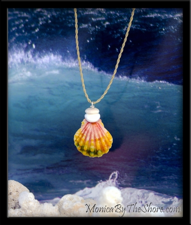 "Multi Color ""Keep da Country Country"" Hawaiian Sunrise Shell Necklace"