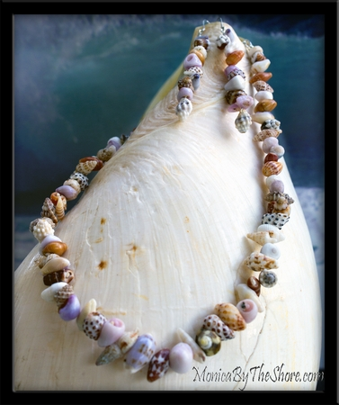 "Custom ""Beach Candy"" Seashell Necklace & Earrings Set for Larissa"