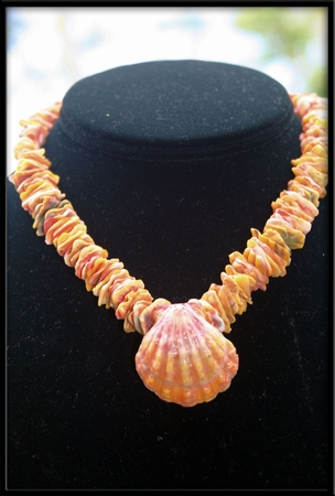 Hawaiian Sunrise Shell Chip Lei Choker