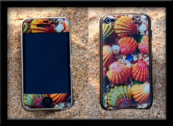 "Hawaiian Sunrise Shell ""Gel"" 3-D Skin for iPhone 4S"