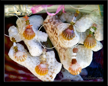 Sunrise Shells & Gem Stones Sterling Silver Wine Glass Charms