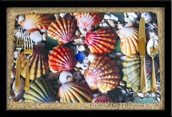 MonicaByTheShore Sunrise Shell Place Mat